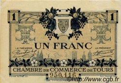 1 Franc FRANCE régionalisme et divers TOURS 1920 JP.123.04 SPL à NEUF