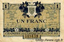 1 Franc FRANCE régionalisme et divers TOURS 1920 JP.123.04 TTB à SUP