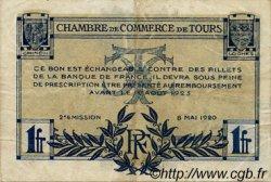 1 Franc FRANCE régionalisme et divers Tours 1920 JP.123.04 TB