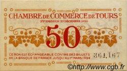 50 Centimes FRANCE régionalisme et divers TOURS 1920 JP.123.06 SPL à NEUF