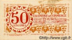 50 Centimes FRANCE régionalisme et divers TOURS 1920 JP.123.06 TTB à SUP