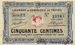 50 Centimes FRANCE régionalisme et divers TROYES 1918 JP.124.01 SPL à NEUF