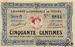 50 Centimes FRANCE régionalisme et divers TROYES 1918 JP.124.01 TTB à SUP