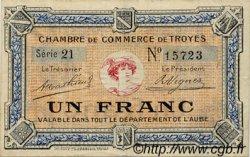 1 Franc FRANCE régionalisme et divers TROYES 1918 JP.124.03 TTB à SUP