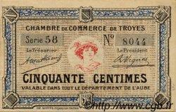 50 Centimes FRANCE régionalisme et divers TROYES 1918 JP.124.05 SPL à NEUF
