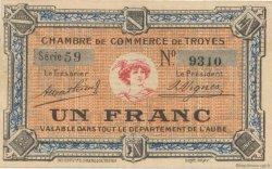 1 Franc FRANCE régionalisme et divers TROYES 1918 JP.124.06 SPL à NEUF