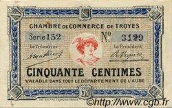 50 Centimes FRANCE régionalisme et divers Troyes 1918 JP.124.07 TTB à SUP