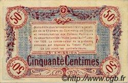 50 Centimes FRANCE régionalisme et divers TROYES 1918 JP.124.09 TTB à SUP