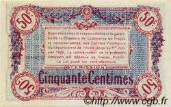 50 Centimes FRANCE régionalisme et divers Troyes 1918 JP.124.11 SPL à NEUF