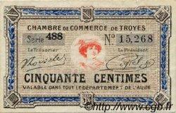 50 Centimes FRANCE régionalisme et divers TROYES 1918 JP.124.13 TTB à SUP