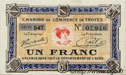 1 Franc FRANCE régionalisme et divers TROYES 1918 JP.124.14 SPL à NEUF