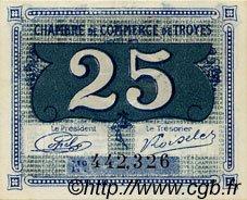 25 Centimes FRANCE régionalisme et divers Troyes 1918 JP.124.15 SPL à NEUF