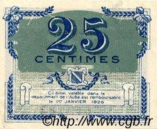 25 Centimes FRANCE régionalisme et divers TROYES 1918 JP.124.15 TTB à SUP