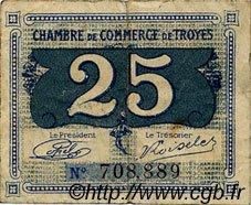 25 Centimes FRANCE régionalisme et divers TROYES 1918 JP.124.15 TB