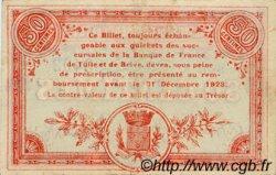 50 Centimes FRANCE régionalisme et divers Tulle 1918 JP.125.01 TTB à SUP