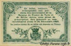 1 Franc FRANCE régionalisme et divers Tulle 1918 JP.125.02 TTB à SUP