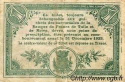 1 Franc FRANCE régionalisme et divers Tulle 1918 JP.125.02 TB