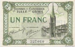 1 Franc FRANCE régionalisme et divers TULLE ET USSEL 1918 JP.126.03 SPL à NEUF