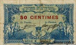 50 Centimes FRANCE régionalisme et divers Valence 1915 JP.127.01 TB