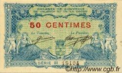50 Centimes FRANCE régionalisme et divers Valence 1915 JP.127.02 TTB à SUP