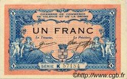 1 Franc FRANCE régionalisme et divers VALENCE 1915 JP.127.03 TTB à SUP