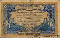 1 Franc FRANCE régionalisme et divers VALENCE 1915 JP.127.03 TB