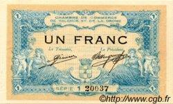 1 Franc FRANCE régionalisme et divers Valence 1915 JP.127.04 SPL à NEUF