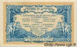 1 Franc FRANCE régionalisme et divers Valence 1915 JP.127.04 TTB à SUP