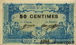 50 Centimes FRANCE régionalisme et divers VALENCE 1915 JP.127.05 TTB à SUP