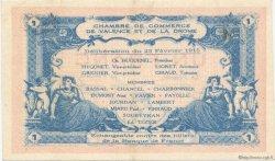 1 Franc FRANCE régionalisme et divers VALENCE 1915 JP.127.07 SPL à NEUF