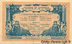 1 Franc FRANCE régionalisme et divers VALENCE 1915 JP.127.07 TTB à SUP