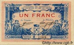 1 Franc FRANCE régionalisme et divers VALENCE 1915 JP.127.08 TTB à SUP