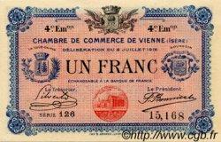 1 Franc FRANCE régionalisme et divers VIENNE 1918 JP.128.23 SPL à NEUF