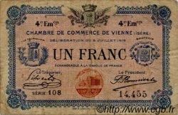 1 Franc FRANCE régionalisme et divers Vienne 1918 JP.128.23 TB