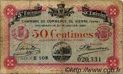 50 Centimes FRANCE régionalisme et divers VIENNE 1920 JP.128.25 TB