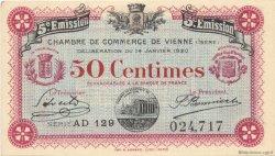 50 Centimes FRANCE régionalisme et divers Vienne 1920 JP.128.26 SPL à NEUF