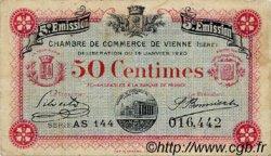50 Centimes FRANCE régionalisme et divers Vienne 1920 JP.128.26 TB