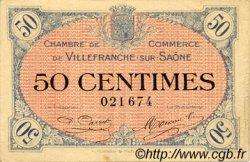 50 Centimes FRANCE régionalisme et divers VILLEFRANCHE-SUR-SAÔNE 1915 JP.129.01 TTB à SUP