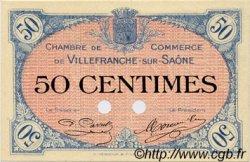 50 Centimes FRANCE régionalisme et divers Villefranche-Sur-Saône 1915 JP.129.02 SPL à NEUF