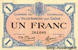 1 Franc FRANCE régionalisme et divers Villefranche-Sur-Saône 1915 JP.129.04 TTB à SUP