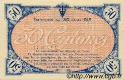 50 Centimes FRANCE régionalisme et divers VILLEFRANCHE-SUR-SAÔNE 1918 JP.129.07 TTB à SUP