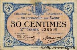 50 Centimes FRANCE régionalisme et divers Villefranche-Sur-Saône 1918 JP.129.07 TB