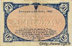50 Centimes FRANCE régionalisme et divers VILLEFRANCHE-SUR-SAÔNE 1920 JP.129.11 TB