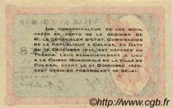 50 Centimes FRANCE régionalisme et divers Colmar 1918 JP.130.01 TTB à SUP