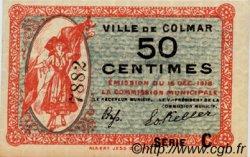 50 Centimes FRANCE régionalisme et divers COLMAR 1918 JP.130.02 SPL à NEUF