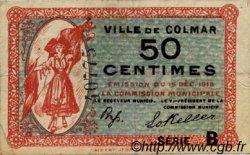 50 Centimes FRANCE régionalisme et divers COLMAR 1918 JP.130.02 TTB à SUP