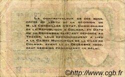 50 Centimes FRANCE régionalisme et divers COLMAR 1918 JP.130.02 TB