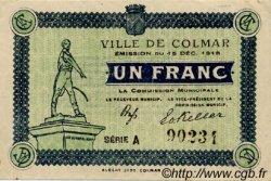 1 Franc FRANCE régionalisme et divers COLMAR 1918 JP.130.03 TTB à SUP