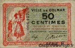 50 Centimes FRANCE régionalisme et divers COLMAR 1918 JP.130.05 TB