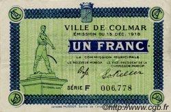 1 Franc FRANCE régionalisme et divers COLMAR 1918 JP.130.06 TTB à SUP